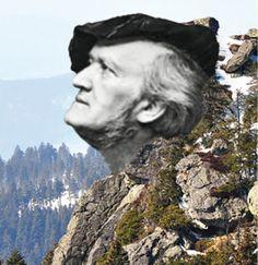 Munich et la Bavière, Louis II et Richard Wagner: Richard-Wagner-Kopf: la tête de Richard Wagner, un... Photomontage, Formations Rocheuses, Artwork, Bavaria, Work Of Art, Auguste Rodin Artwork, Artworks, Illustrators