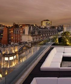 A glam rooftop bar overlooks the Thames and the glittering West End. #London