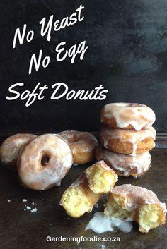 No Yeast Soft Donut Recipe ⋆ The Gardening Foodie - My delicious homemade No. - No Yeast Soft Donut Recipe ⋆ The Gardening Foodie – My delicious homemade No… – No Yeast - Doughnuts Recipe No Yeast, Soft Donut Recipe, Quick Donuts Recipe, Baked Donut Recipes, Cake Donut Recipe Fried, Air Fry Donuts, Fried Donuts, Donuts Donuts, Pavlova