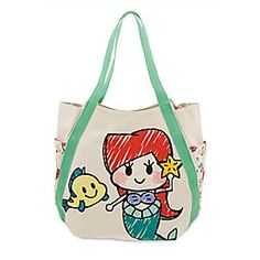 Ariel Tote Bag | Disney Store Starring Ariel and her super cute sidekicks, Sebastian and Flounder, this spacious canvas tote can accessorize your look anywhere on land!