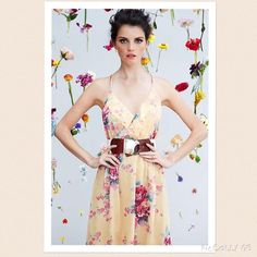 """Anthropologie Rose & Gold Slip Dress by Meadow Rue. Brand New with Tags!     The soft v-neck of Meadow Rue's strappy floral frock meets its mirrored match with a flirty peek-a-boo back.  •Adjustable straps •Pullover styling •Silk; polyester lining •Dry clean 42.5""""L Style No. 24165623  Reasonable offers are always considered Smoke and pet free home No PayPalNo Trades"""