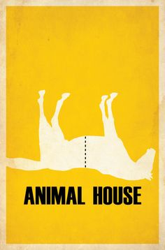 Animal House (1978) - Minimal Movie Poster by Matt Owen ~ #mattowen #minimalmovieposters #alternativemovieposters