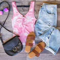 Danni Lace Up Top in pink on shoppriceless.com