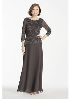Long Sleeve Beaded Mock Two Piece Dress 4398SE What do you think of this Lauren?