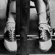Vintage Shoes Photographic Print: College Coed Sporting, Ubiquitous Saddle Shoes by Alfred Eisenstaedt : - size: Photographic Print: College Coed Sporting, Ubiquitous Saddle Shoes by Alfred Eisenstaedt : Artists Teddy Boys, Rockers, Idda Van Munster, Before I Forget, Bobby Socks, Saddle Oxfords, Brogues, Photo Vintage, My Childhood Memories