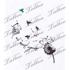In Memory Tattoo- Dandelion and birds | Until we meet again. #35936 | CreateMyTattoo.com