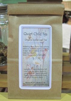Quiet Child Organic Loose Leaf tea by WillowMoonSoap on Etsy, $6.00