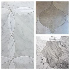 Natural stone water-jet tiles...lovely in a powder room, foyer, or wall feature.