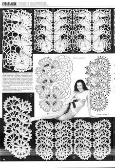 "Photo from album ""Дуплет. Freeform Crochet, Crochet Granny, Crochet Motif, Crochet Stitches, Crochet Trim, Crochet Lace, Irish Crochet Charts, Lace Tape, Russian Crochet"