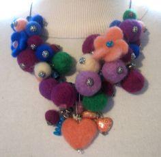 Natural Merino Wool Necklace From Paris #Merino #Handmade #necklace #Jewelry #BOHO #Bohemian