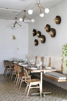 Get eclectic Scandinavian design inspiration from Loquita restaurant in Santa Barbara.