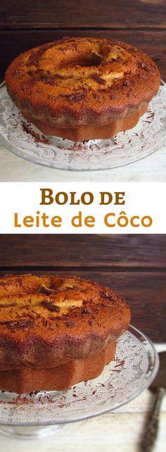 Bolo de leite de côco | Food From Portugal. Já experimentou comer uma fatia de um delicioso bolo de côco?! É maravilhoso este bolo e a ligação entre o leite de côco e a canela é mesmo especial!! Recomendamos! Veja como preparar esta receita! #receita #côco