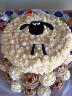Sheep Cake with cola and lemonade cupcakes by Cupcakes By Dee, via Flickr