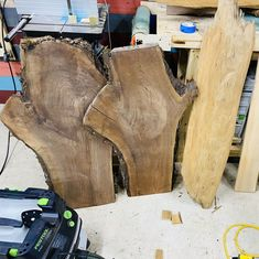 @dodaddydiy posted to Instagram: These are going to make awesome end tables.      #wood #woodworking #craftsman #handmadefurniture #woodslab #liveedge #woodwork #dowoodworking #furniture #slab #rustic #furnituredesign #handcrafted #artisan #walnutslab #englishwalnut #walnutwood Walnut Slab, Wood Slab, Glow Table, Epoxy Resin Table, Live Edge Table, Handmade Furniture, Diy Table, End Tables, Craftsman