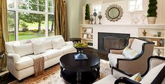 How To Make Your Fireplace The Focal Point Of Your Living Room: http://aol.it/IDiBO1 | Homesessive #Home #Decor #Fireplace #Winter