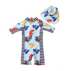 d0ed51b05 2 piezas niños bebé Niños Niñas Ropa traje de sombrero de protección solar  playa de Surf