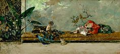 Mariano Fortuny, Hijos del artista en el Jardín Japonés, 1874.