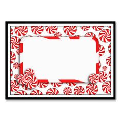 Peppermint Candy w/Tag Business Card by #I_Love_Xmas #peppermintcandy