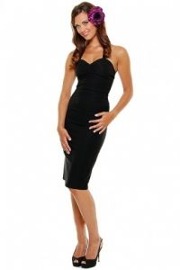 34e809fdca3 Rock Steady Clothing - Rock Steady Clothing - Ruthless Halter Pencil Dress  black Pin Up Dresses