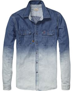 Worker Denim Shirt Mens Clothing Shirts at Scotch Soda Denim Shirt Men, Denim Jacket Men, Shirt Jacket, Denim Jeans, Pant Shirt, Mens Trends, Camisa Polo, Denim Fashion, Street Fashion