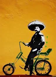Bike street art graffiti in Oaxaca, Mexico Graffiti Kunst, Stencil Graffiti, Graffiti Artwork, Art Mural, Artwork Paintings, Banksy, Best Graffiti, Street Art Graffiti, Illustrations