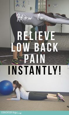 The ultimate 5 exercises that will help you relieve low back pain instantly. Less is always more. These are the exercises that helped me through recovery of piriformis syndrome and sciatica pain. | low back pain| piriformis syndrome| disc herniation relief | chronic pain | back pain