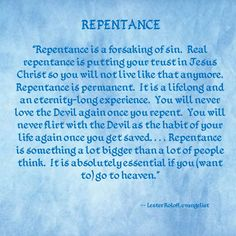 Lester Roloff on Repentance