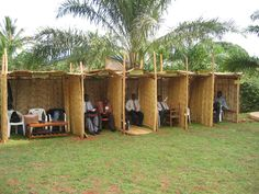 Booths set up for departments at the Kigoma Circuit Assembly. That's so cool!