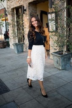 And love bilayer midi skirts! | 19 Midi Skirt Styles You Just Have To Try