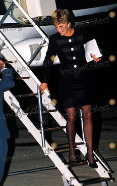 Princess Diana Heathrow Airport, London Photo: Alpha-Globe Photos Inc 1993