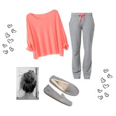 Cute lazy day outfit <3 I would definitely do something else with my hair... Probably ponytail