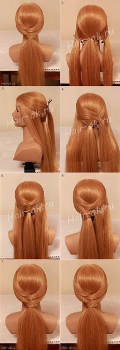 Beautiful 10 Minutes Ponytail Hairstyle