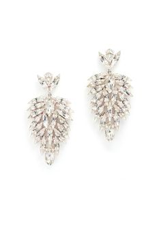 Crystal Phoenix Earrings by Tova for $25 | Rent The Runway