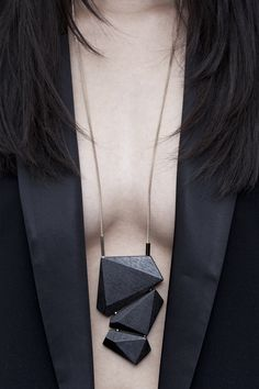 Geometric Jewellery - wooden statement necklace // Salome Charly