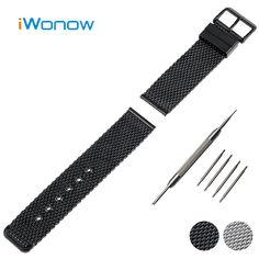 Stainless Steel Watch Band 20mm 22mm 24mm for Cartier Pin Buckle Strap Link Wrist Belt Bracelet Black Silver + Spring Bar + Tool #Affiliate