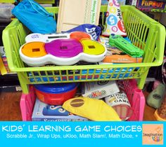 Learning games bins