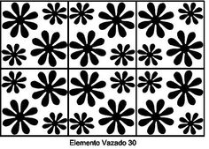 Elemento Vazado em Vinil Adesivo.