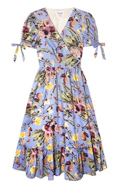 Felicity Wrap Dress Nigella Blue (S) by Dagny Blue Midi Dress, Floral Midi Dress, Blue Dresses, Summer Dresses, Floral Dresses, African Print Dress Designs, Mode Abaya, Iranian Women Fashion, Snake Print Dress