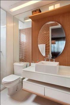 Construindo Minha Casa Clean: 20 Bancadas Brancas de Banheiros/Lavabos - Veja Dicas e Decoração!
