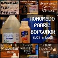 Click to see a collection of frugal DIY household cleaning recipes