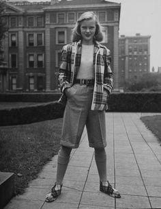 boyish 1940s look