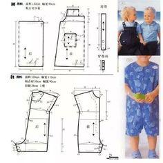 Modelagem para meninos Baby Dress Patterns, Baby Clothes Patterns, Kids Patterns, Baby Kids Clothes, Clothing Patterns, Sewing Patterns, Baby Sewing Projects, Sewing For Kids, Diy Pantalon