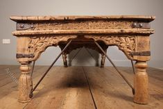 Indian Coffee Table, Antique Coffee Tables, Outdoor Grill Area, Bleached Wood, Teak, Entryway Tables, Carving, Iron, Antiques