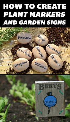 #DIY Plant Markers & Garden Signs