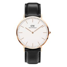 Ladies Daniel Wellington Classic St Andrews Lady rose gold-plated and brown leather strap watch. The Daniel Wellington Classic St Andrews Lady is an elegant timepiece and the epitome of perfection in engineering. This St Andrews model has a refined eggshe Daniel Wellington Rose Gold, Daniel Wellington Classic Sheffield, Daniel Wellington Men, Black Leather Watch, Leather Watch Bands, Brown Leather, Gold Leather, Leather Case, Luxury Watches