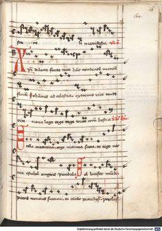 Cantionale, Geistliche Lieder mit Melodien. Münchner Marienklage Tegernsee, 3. Drittel 15. Jh. Cgm 716  Folio 168