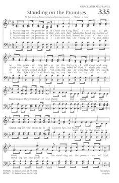 Standing on the Promises.one of my favorite hymns! Gospel Song Lyrics, Great Song Lyrics, Christian Song Lyrics, Gospel Music, Christian Music, Music Lyrics, Music Songs, Church Songs, Church Music