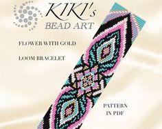 Perle métier motif fleur et les pétales de métier par KikisBeadArts