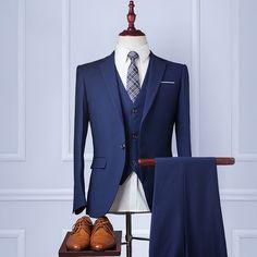 Cashmere Blue Men Dress Suits
