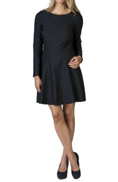 393a09ea854 THEO. s Women s Lovely Long Sleeve Fitted Black Ponte Dress